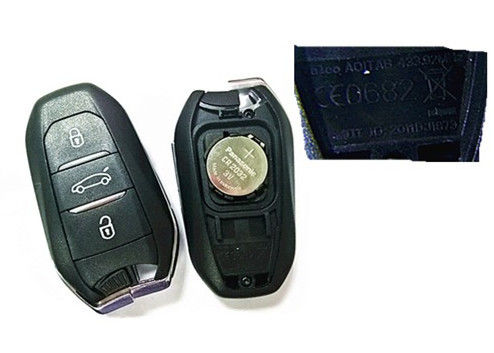 CE0682 Keyless Entry Fob / Peugeot Remote Key 2011DJ1873 433 MHZ With Blade Valeo A01TAB