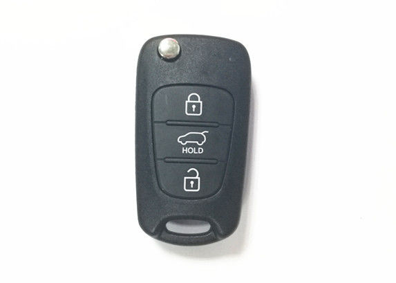 Black Color Hyundai Car Key RKE-4A02 I10 I20 I30 Ix35 433mhz Hyundai Key Fob